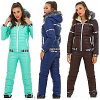 Зимний женский костюм   Теплый лыжный костюм