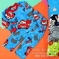 Детская теплая пижама для мальчика вельсофт  р.24,26,28,30,32,34,36,38,40
