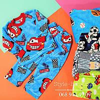 Детская теплая пижама для мальчика вельсофт  р.24,26,28,30,32,34,36,38,40 30