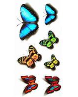 Переводное тату с бабочками