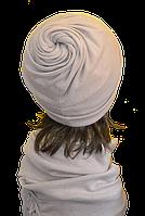 """Оригинальный набор из шапки и шарфа для женщин """"Коловорот"""""""