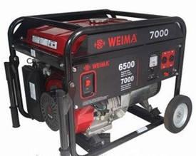 Бензиновый генератор Weima WM7000E (7 кВт) 1фаза, электрост.
