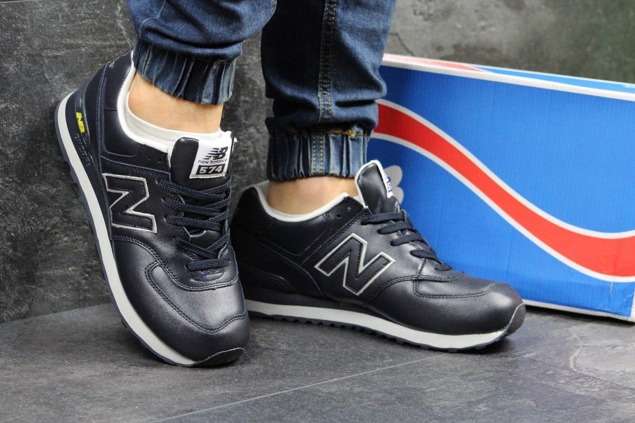 fc9c0e192aa516 Я в шоке!™ | Мужские кроссовки New Balance 574 темно синие 3407 ...