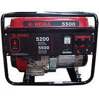 Бензиновый генератор Weima WM5500E (5,5 кВт) 1фаза, электростартер