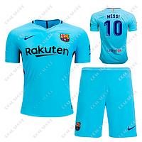 Детская футбольная форма ФК Барселона 2017-2018, Месси №10. Гостевая форма fc026e0e0b5