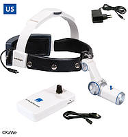 Налобный осветитель HiLight® LED H-800 с аккумуляторoм для крепления на ремень (США)
