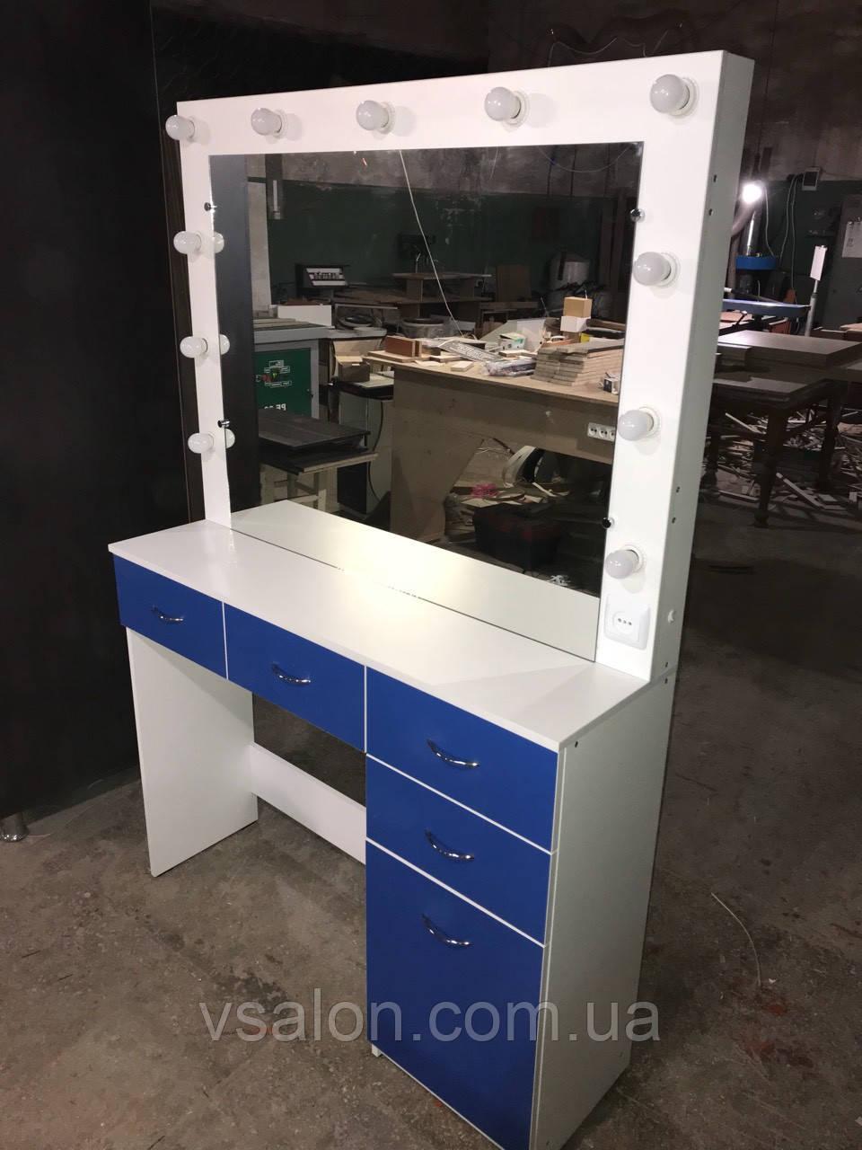 Гримерный столик з синіми фасадами V182