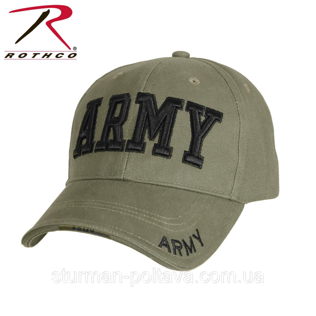 "Бейсболка чоловіча олива c вишивкою ""ARMY"" Rotcho USA"