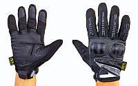 Перчатки тактические с закрытыми пальцами и усил. протектор MECHANIX MPACT 3 BC-4923-BK