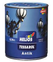 Алкидная Эмаль HELIOS TESSAROL ANTIK (антрацит) - Универсальная алкидная эмаль для металла и дерева
