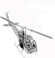 Металлический 3D конструктор Вертолет UH-1
