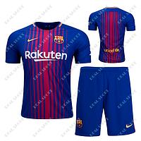 Детская футбольная форма ФК Барселона 2017-2018, Без номера. Основная форма