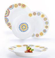 "Сервиз столовый стекло 18 предметов ""Luminarc.Comedia Colors"" №13339 / N1527"