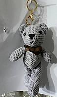 126 Серые брелки медведи для сумок и ключей. Брелок мишка 25 см