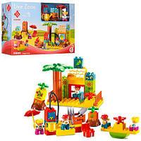 Конструктор 55006 (24шт) дом, детская площадка, фигурки, 48дет, в кор-ке, 38-25-10см