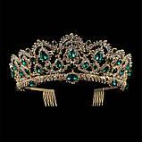 Корона під золото з червоними камінцями, висота 6,5 див. Біжутерія для конкурсу, фото 3