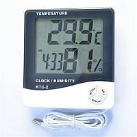 HTC-2 термометр, гигрометр, часы с выносным датчиком