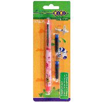 Ручка с закрытым пером + 2 патрончика, картонный блистер, розовый корпус