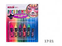 Аквагрим 6 красок на планшете Карандашик