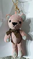 136 Подарок игрушка, брелок Hade made- брелки медведи 25 см для сумок.