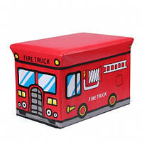 Пуф - ящик для игрушек Пожарная Машина