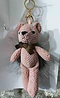 137 Подарки игрушки брелоки Hade made- брелки медведи 25 см для сумок.