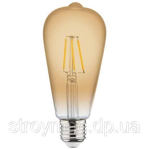 Филаментная led лампа Horoz Electric 4W E27 RUSTIC VINTAGE-4 2200K
