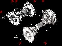 Вал карданный короткий ДЗ-122.09.01.000 Для Автогрейдеров
