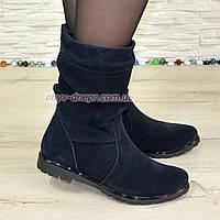 """Зимние женские ботинки замшевые на меху. ТМ """"Maestro"""", фото 1"""