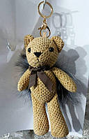 140 Игрушки брелки Hade made- брелок мишка 25 см для сумки.