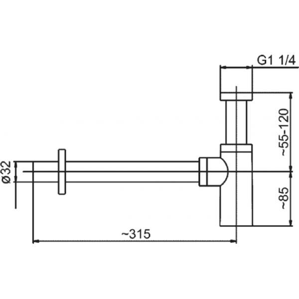armatura Сифон для раковины Armatura 600-003-00