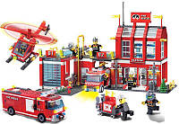 Конструктор Пожарная часть и техника, 980 деталей, фото 1