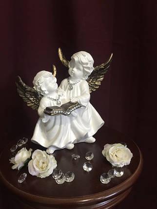 Ангел Пара с книгой, золото, фото 2