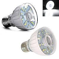 Led лампа 3W 23LED E27 с датчиком движения и освещенности