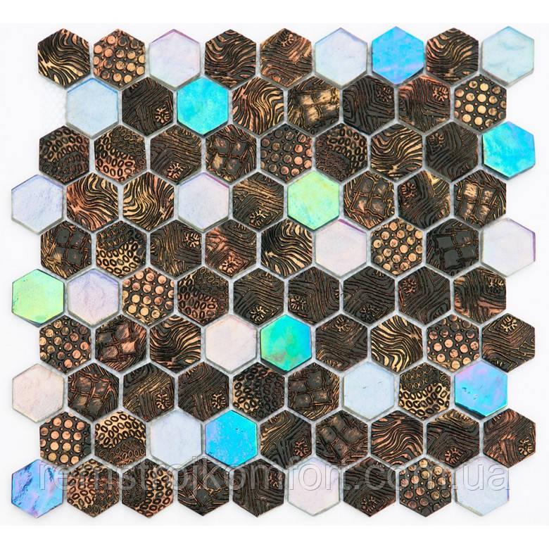 Мозаика Vivacer Декор Mix SB01 30.5x31.5/3.8x3.4