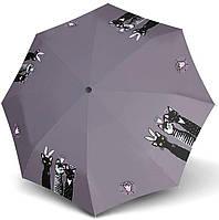 Складной женский зонт автомат с рисунком Doppler 746165RC Антиветер