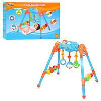 Тренажер детский 0816 NL 3 подвески, кубики, муз, свет, на бат-ке, в кор-ке, 53-37-10см (код 220-176094)