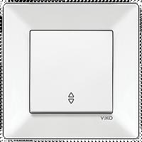 Выключатель проходной белый Viko Meridian 90970004-WH