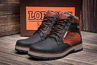 Мужские зимние кожаные ботинки Wrangler Arizona Brown (реплика), фото 1