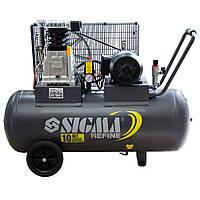 Компрессор ременной ll 380В 2.2кВт 508л/мин 10бар 100л 2 крана Refine Sigma 7044211