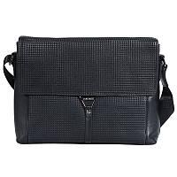 Деловая мужская кожаная сумка формата А4 черная (Италия) Lare Boss LB008108-31