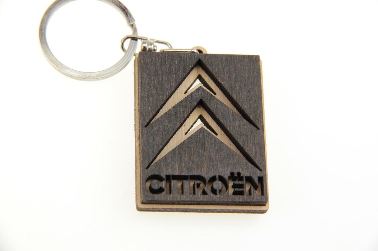 Брелок Citroen деревянный