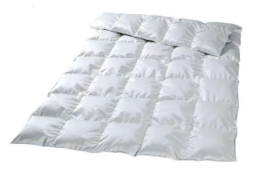 """Одеяло пуховое кассетное 100 % пуха, тик """"ENIGMA"""" 1,5 евро (160х215)"""