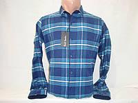 Мужская клетчатая тёплая рубашка на кнопках Paul Semih, Турция