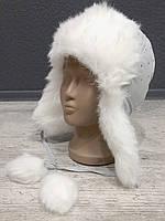 Тёплая детская шапка с мехом
