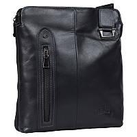 Многофункциональная мужская сумка из натуральной кожи черная Итальянского бренда Lare Boss LB008511-21