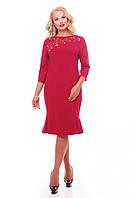Платье большого размера VP33 бордо, фото 1