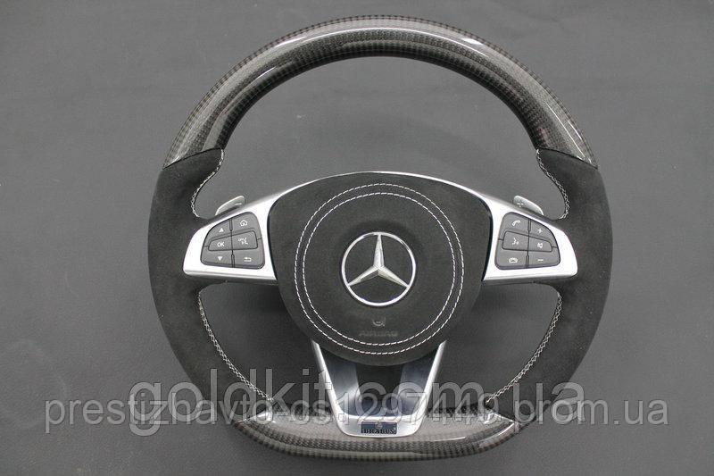 Руль на Mercedes G55 G63 G65 G500 G800 G900 G-Class W463 Карбон Carbon