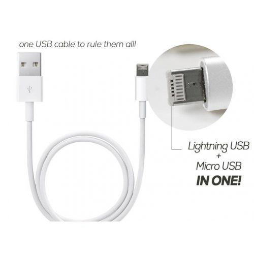 USB шнур для телефона 2 in 1 Lightning and Micro, фото 1