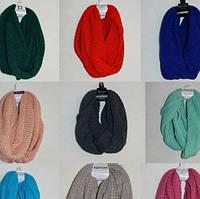 Женский зимний шарф хомут